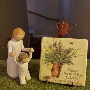 Pot of Flowers Stone Plaque
